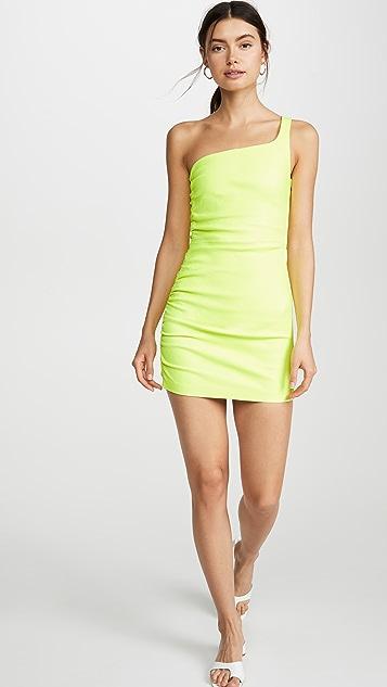 SPRWMN Платье с открытым плечом и сборками сбоку