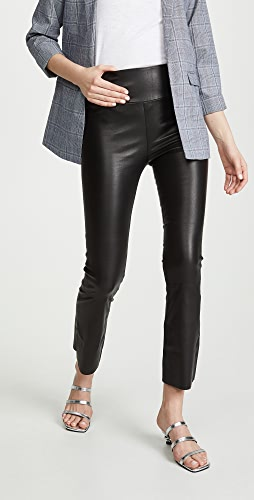 SPRWMN - Leather Crop Flare Leggings