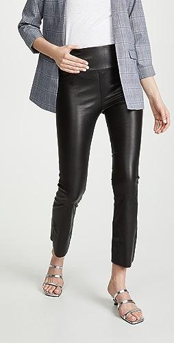 SPRWMN - 皮中长喇叭贴腿裤