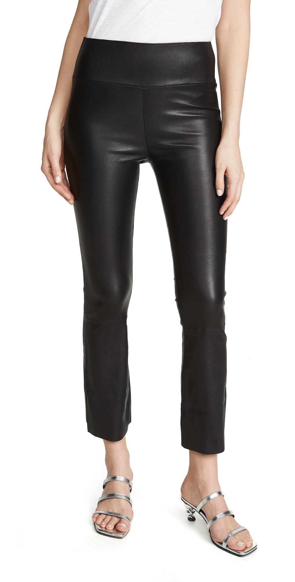 SPRWMN Leather Crop Flare Leggings