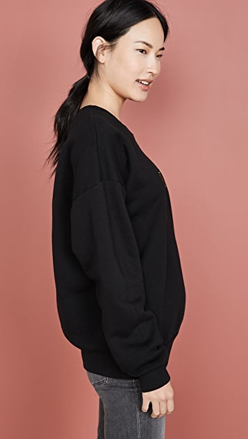 SPRWMN 刺绣镂空圆领运动衫