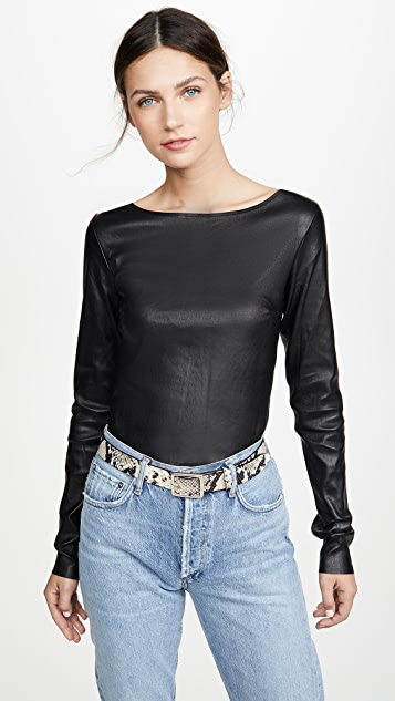 SPRWMN Ballerina Leather Top