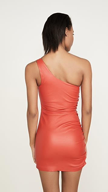 SPRWMN Shirred One Shoulder Dress