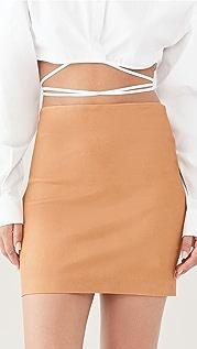 SPRWMN Leather Miniskirt