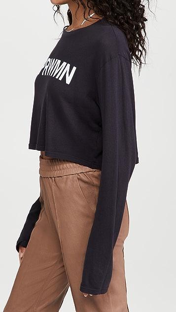 SPRWMN 徽标长袖 T 恤