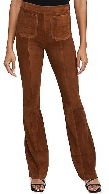 SPRWMN Patch Pockets Super Flare Suede Pants