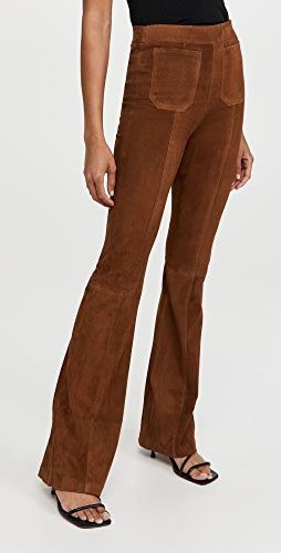 SPRWMN - Patch Pockets Super Flare Suede Pants