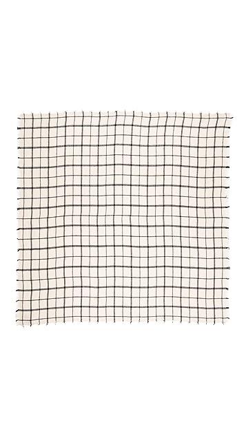 Spun Scarves by Subtle Luxury Windowpane Scarf