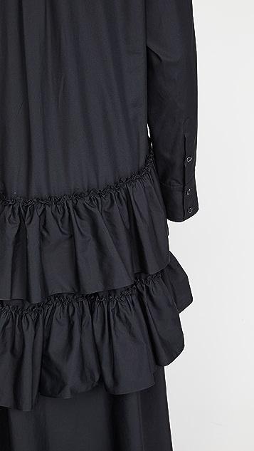 Simone Rocha Frill Tier Shirtdress