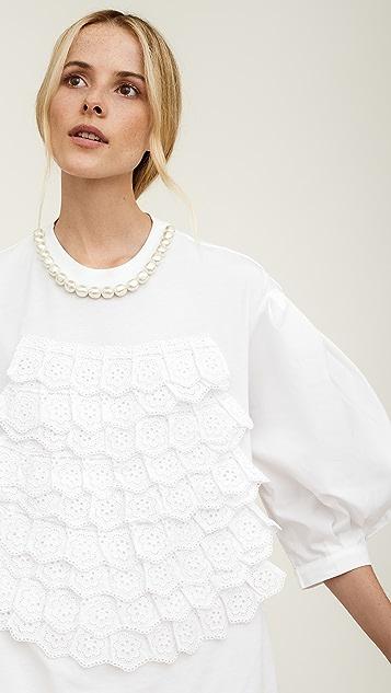 Simone Rocha 英格兰刺绣泡泡袖上衣