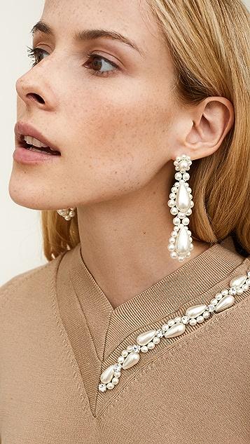 Simone Rocha Imitation Pearl Drop Earrings