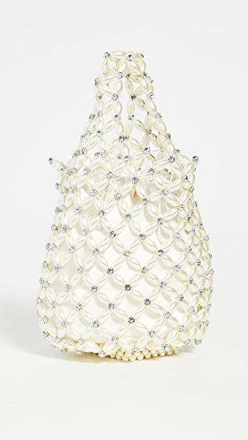 Simone Rocha Small Beaded Shopper Bag