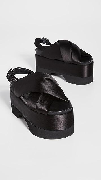Simone Rocha 交叉固定带厚底凉鞋