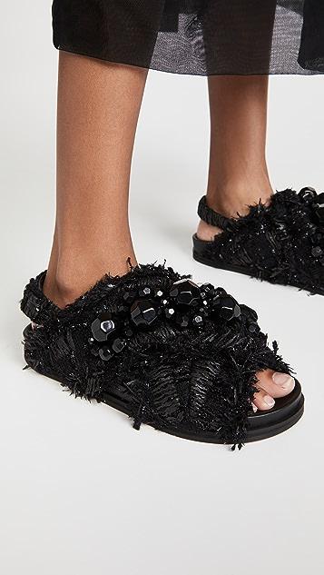 Simone Rocha Cross Strap Sandal Slides