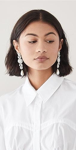 Simone Rocha - Jewelled Drop Cameo Earrings