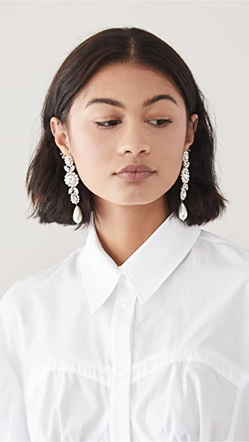 Simone Rocha 珠宝镶嵌吊坠浮雕宝石耳环