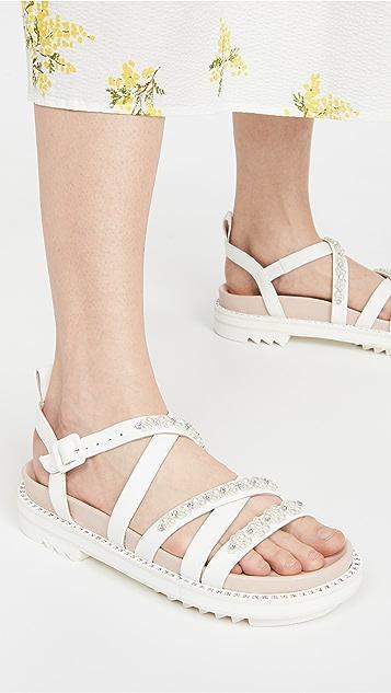 Simone Rocha 交叉运动凉鞋