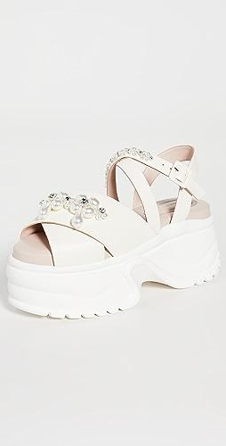 Simone Rocha - 厚底运动鞋底凉鞋