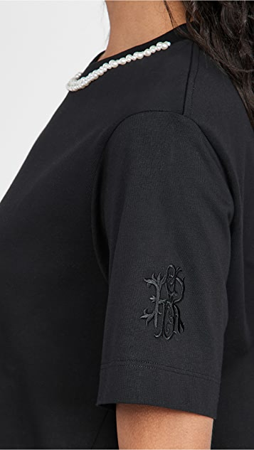 Simone Rocha 装饰 A 字剪裁男友风格 T 恤