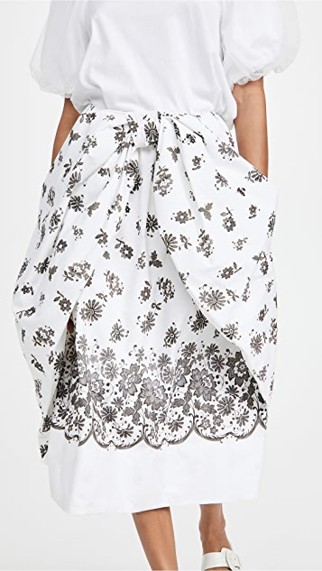 Simone Rocha Bow Front Skirt