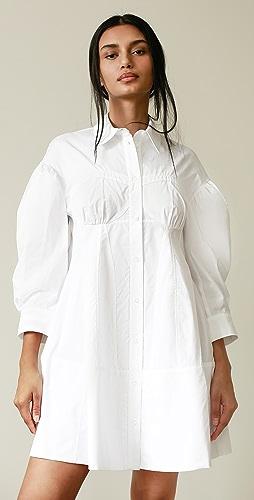 Simone Rocha - 束腰设计衬衣连衣裙