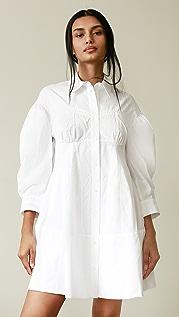 Simone Rocha Corset Detailed Shirt Dress