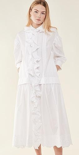 Simone Rocha - Frill Front Pleated Smock Dress
