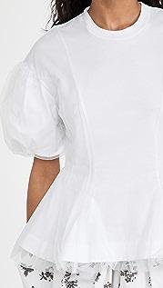 Simone Rocha Tulle Overlay Sculpted Top
