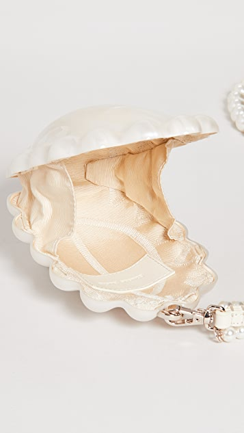 Simone Rocha Micro Perspex Pearl Daisy Bag