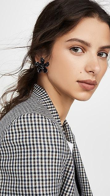 Simone Rocha Crystal Flower Earrings