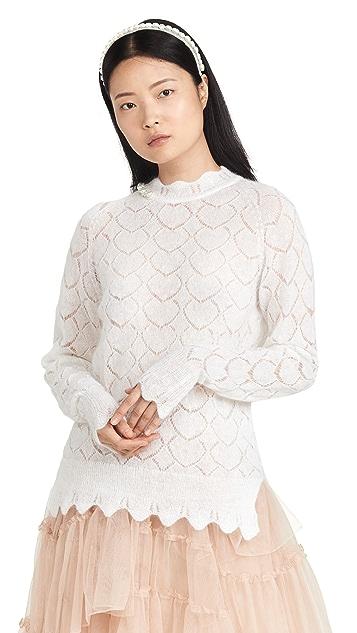 Simone Rocha Mohair Heart Stitch Sweater