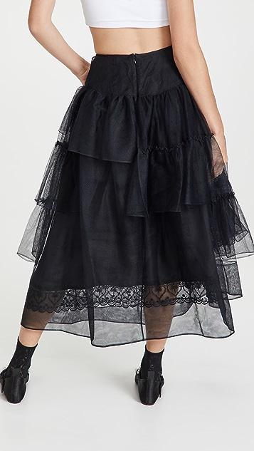 Simone Rocha Tiered Ruffle Long Skirt
