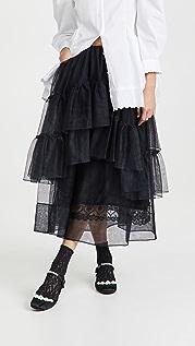 Simone Rocha 层褶荷叶边半身长裙