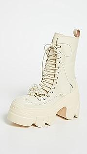 Simone Rocha Tracker Sole Lace Up Boots