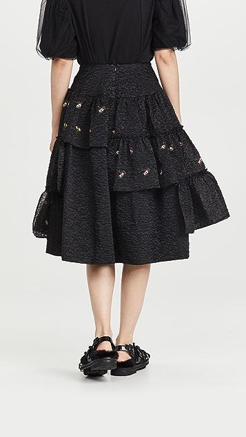 Simone Rocha Tiered Ruffle Midi Skirt