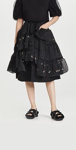 Simone Rocha - 层褶荷叶边半身长裙