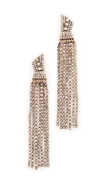 Stella + Ruby Statement Dangle Crystal Earrings