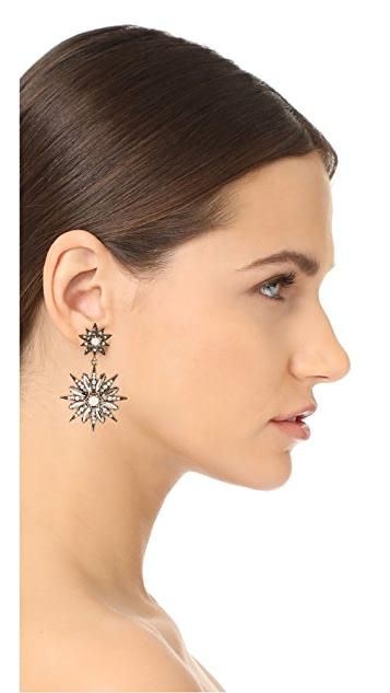 Stella + Ruby Double Star Statement Earrings