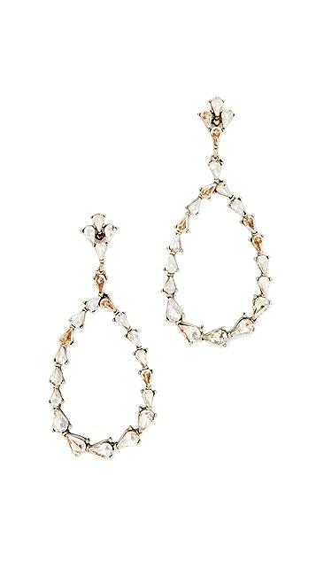 Stella + Ruby Statement Dangle Hoop Earrings