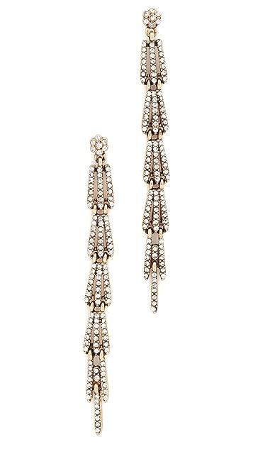 Stella + Ruby Crystal Linear Drop Dangle Earrings