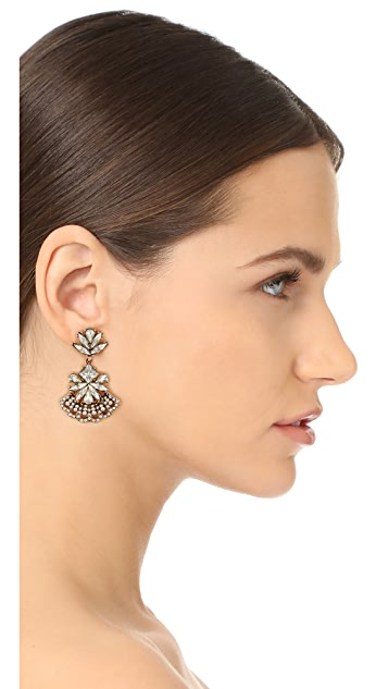 Stella + Ruby Statement Crystal Fan Out Earrings
