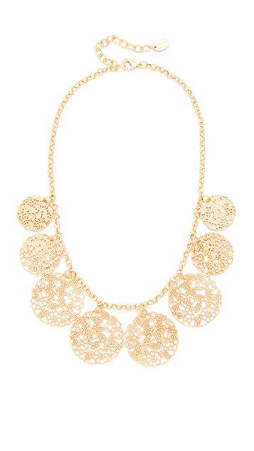 Stella + Ruby Large Disc Necklace