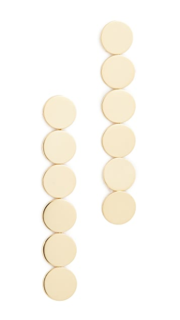 Stella + Ruby Gold Circles Linear Drop Earrings