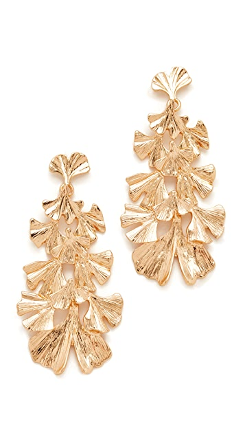 Stella + Ruby Leaf Dangle Earrings