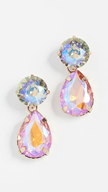 Stella + Ruby Multi Color Drop Earrings