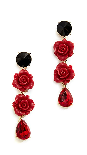 Stella + Ruby Rose Drop Earrings