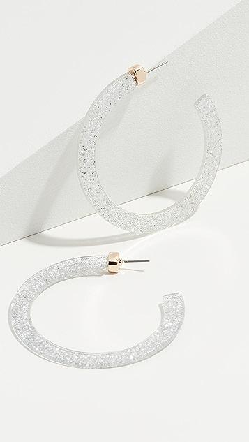 Stella + Ruby Glitter Resin Hoop Earrings
