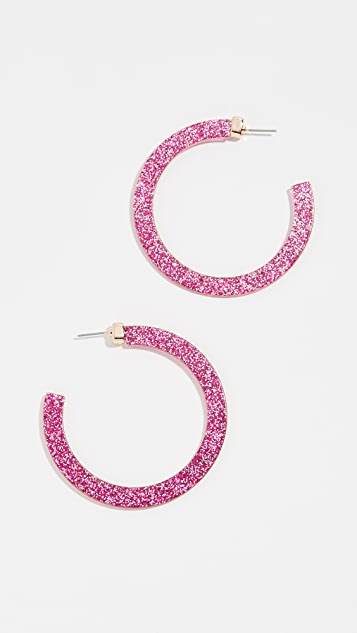 Stella + Ruby Glitter Resin Hoop Earrings