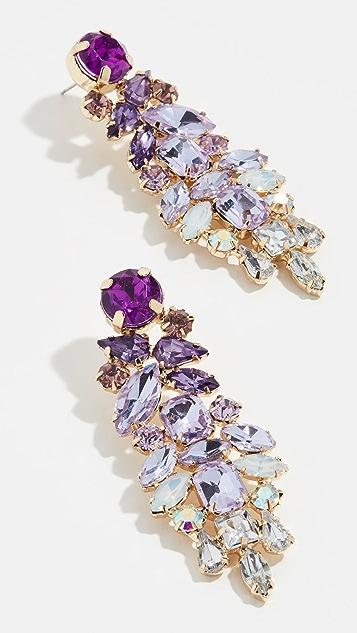 Stella + Ruby Lavendar Drop Earrings - Lavender