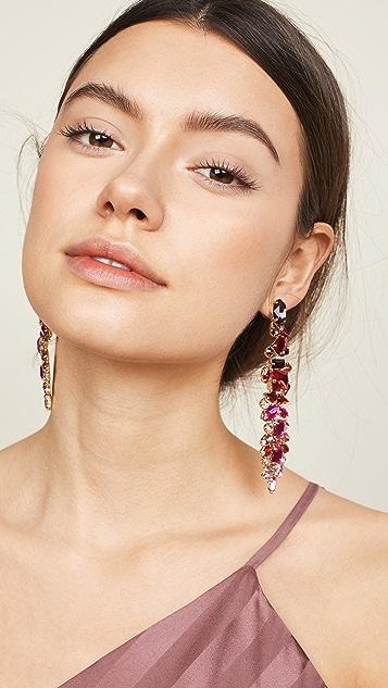 Stella + Ruby Ruby Drop Earrings
